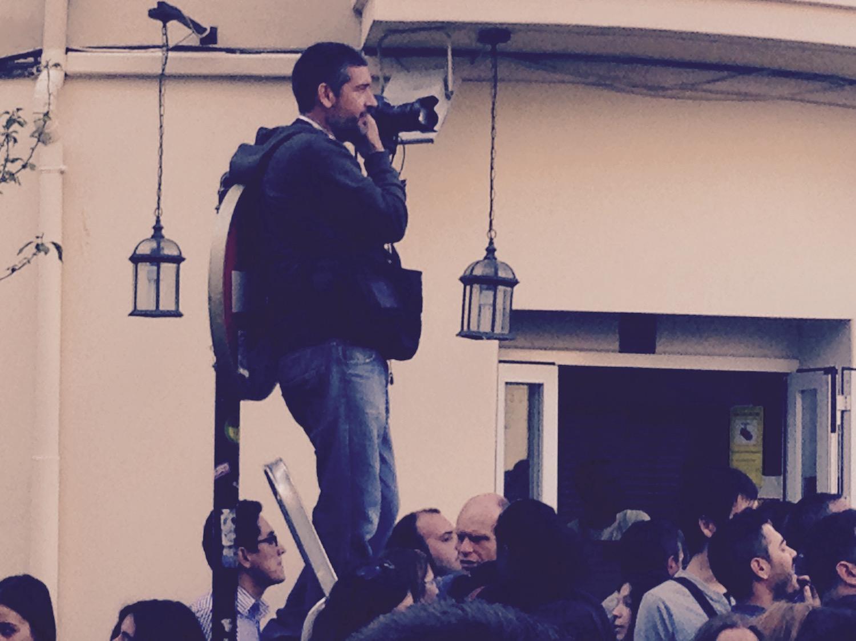 Periodistas cubriendo el Festival