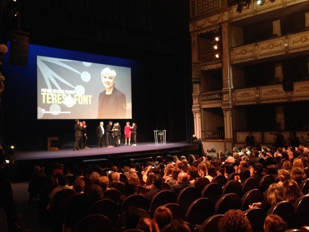 Premio Ricardo Franco a Teresa Font